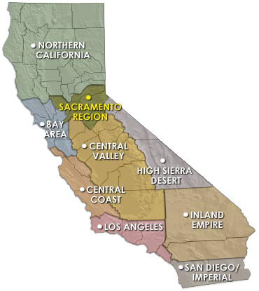 California Map Region