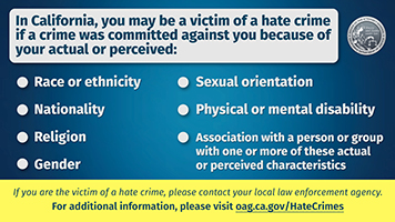 Hate Crime Shareable Graphic in English