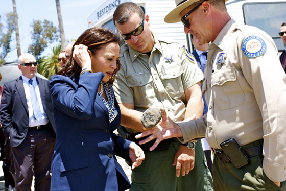 AG Harris Tours Oil Spill