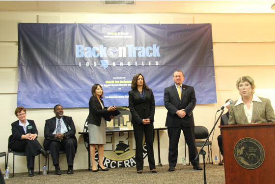 Attorney General Kamala D. Harris Visits Pitchess Detention Center, Recognizes 53 Back on Track LA Participants
