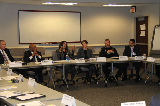 Kamala Harris leads discussion with members of the 21st Century Policing Working Group