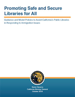 Guidance and Model Policies to Assist California's Public Libraries