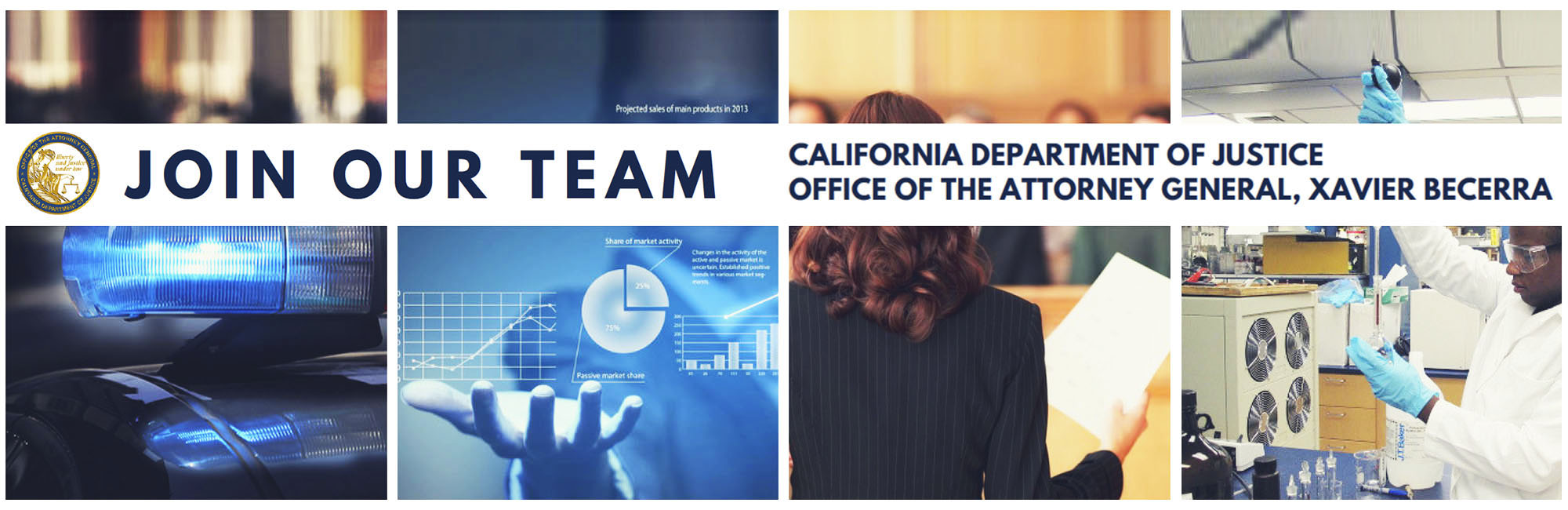 Join our team - California Department of Justice - Office of the Attorney General, Xavier Becerra.