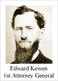 Edward Kewen, 1st Attorney General