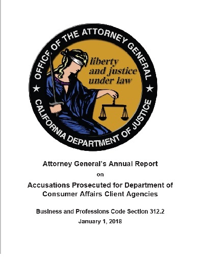 Attorney General's Annual Report  January 1, 2018