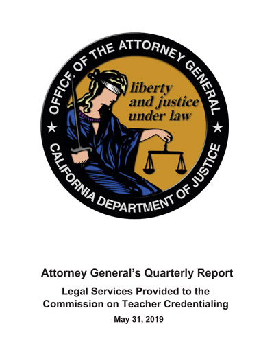 Download Attorney General's Quarterly Report May 31, 2019