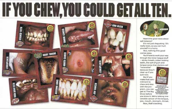 Advertisement - If you chew, you could get all ten...