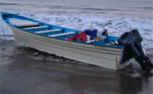 Figure 23: Seized Panga Boat in Santa Barbara County