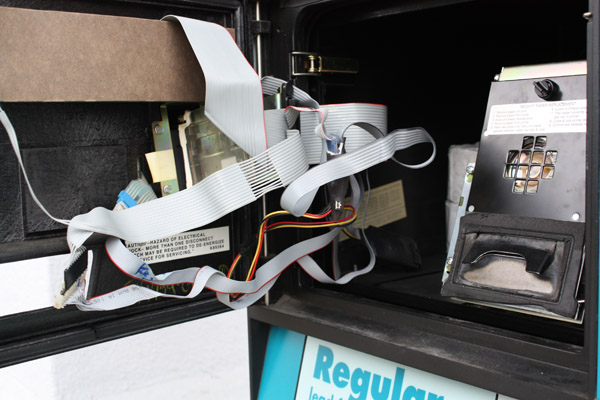 Figure 29: Skimmer Placed in a Gas Station Payment Terminal in Martinez, CA