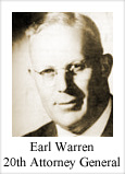 Earl Warren, 20th Attorney General