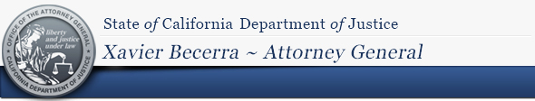 State of California Department of Justice, Office of the Attorney General Xavier Becerra